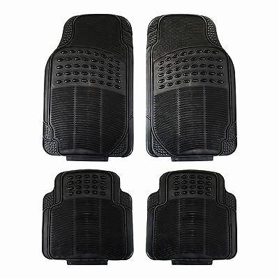 4pcs Universal Heavy Duty Black Rubber Car Van Mats Set Kit Non Slip