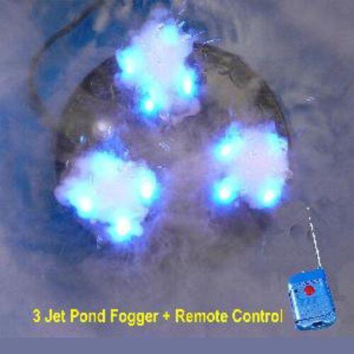 3 Jet Pond Fogger w/ RGB LED Lights & Remote Control-floating water mister-fog
