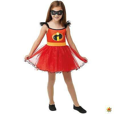 Incredible Kinder Kostüm Mädchen Elastigirl Kleid Gr. M L Disney Karneval
