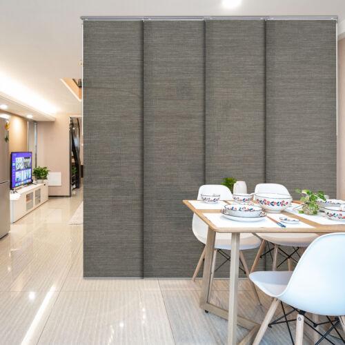 Adjustable Room Divider Room Cut to Length Screen Sliding Panel Curtain Shade