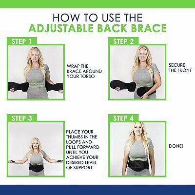 Back Brace For Lower Back Pain Back In Shape Adjustable Back Brace For... - $79.00