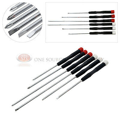 er 6 Piece Set Phillips Slotted Computer Repair Hobby Work (6 Piece Electronic Screwdriver)