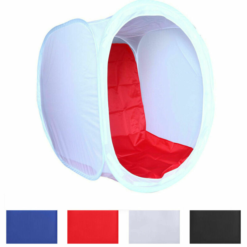 32 Inch Photo Studio Shooting Tent Light Cube Diffusion Soft Box Kit w/ 4 Colors