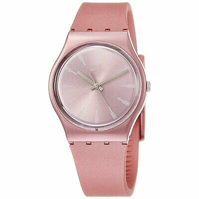 Swatch GP154 Pastelbaya  34MM Women's Pink Silicone Watch