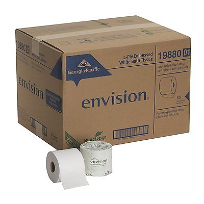 Georgia Pacific Envision Toilet Tissue, 2-Ply, 550 Sheets, 19980/01 - Case of 80