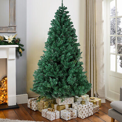 6FT Christmas Tree 850 Tips Artificial PVC W/ Solid Metal Xmas Decoration Green Decorating Artificial Christmas Tree