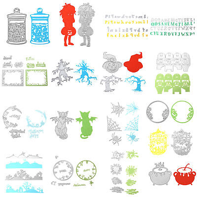 Halloween Metal Cutting Dies Stencils Scrapbook Embossing DIY Paper Craft Album (Halloween Papercraft)
