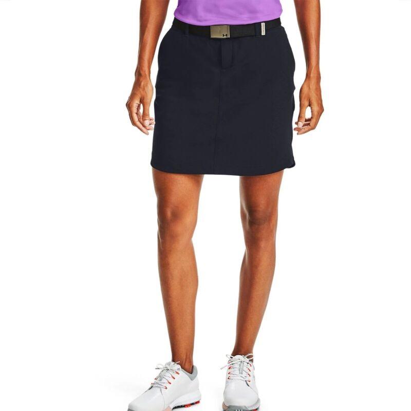 NWT Under Armour Womens UA Links Woven Skort 12 Golf Black MSRP $70 💯AUTH