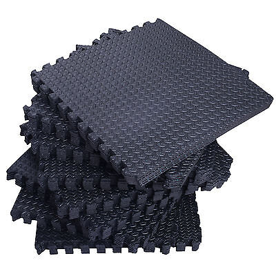 192Sq Ft Foam Interlocking Exercise Protective Tile Flooring