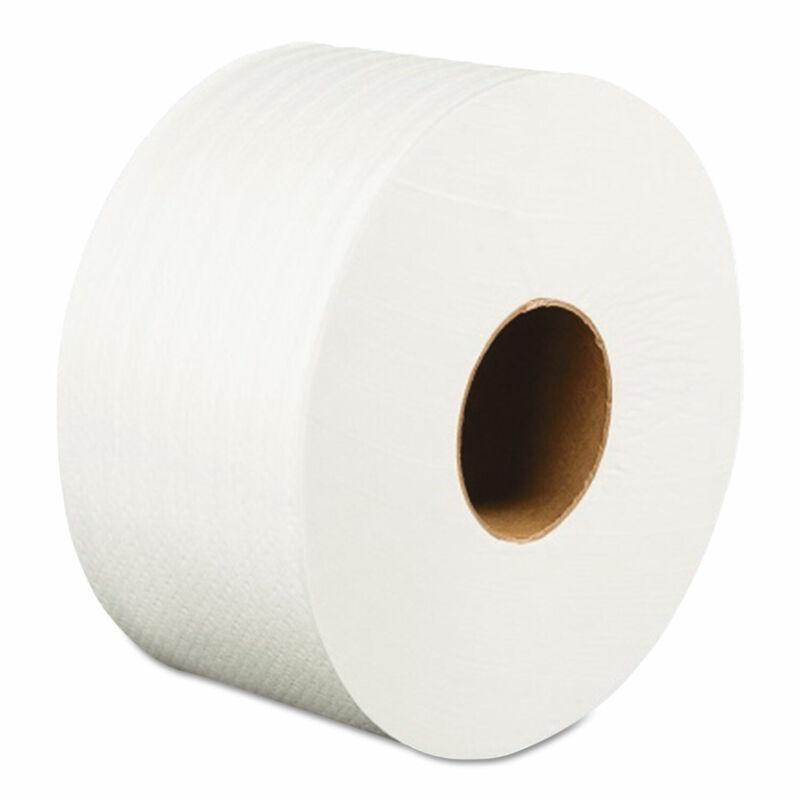 "Boardwalk Jumbo Roll Bathroom Tissue 2-Ply White 3.2"" x 525 ft 12 Rolls/Carton"