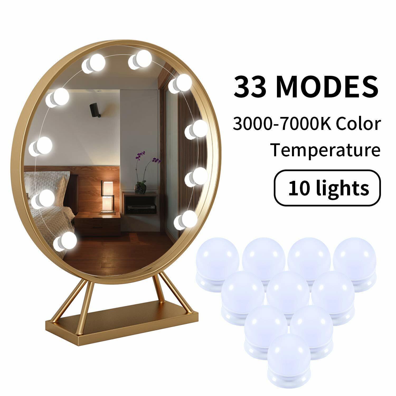 hollywood style led vanity mirror lights kit