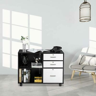 3 Drawer File Cabinet Storage With Mobile Wheels Office Filling Cabinet
