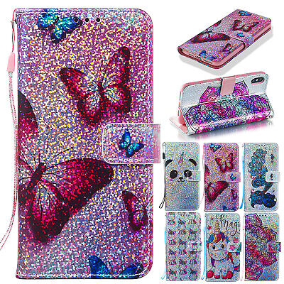 For iPhone XS Max XR X 8 Plus 7 6S Bling Leather Magnetic Flip Wallet Case Cover](Magnetic Marbles)