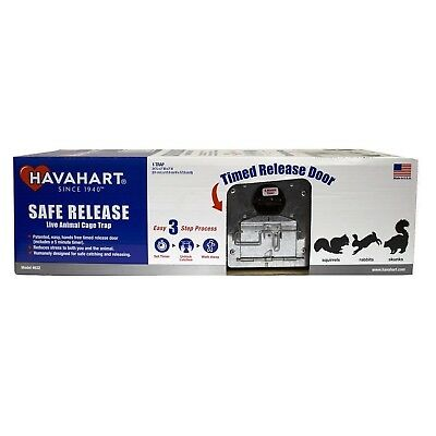 Havahart 632 Medium 2-Door Safe Release Live Animal Cage Trap for Squirrels, ...