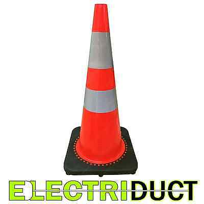 28 Pvc Traffic Cones With Safety Road Reflective Collar 10 Pack Orange Black