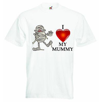 I Love My Mummy Halloween Personnalisé Bébé Garçons Filles T-shirt T-shirts - Tee Shirt Halloween Bebe