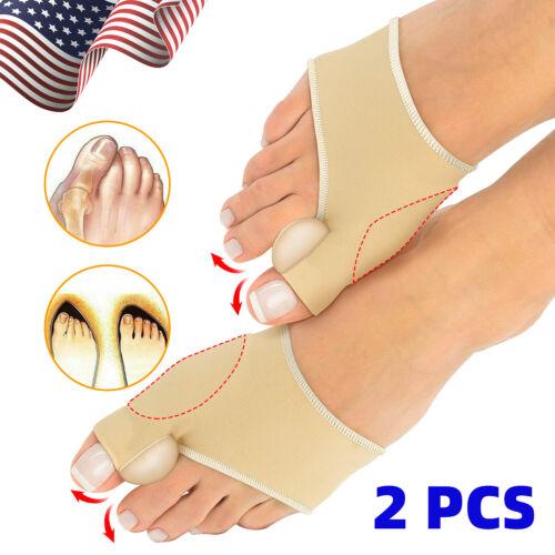 2Pcs Bunion Corrector Orthopedic Straightener Adjuster Brace Foot Toe Separator