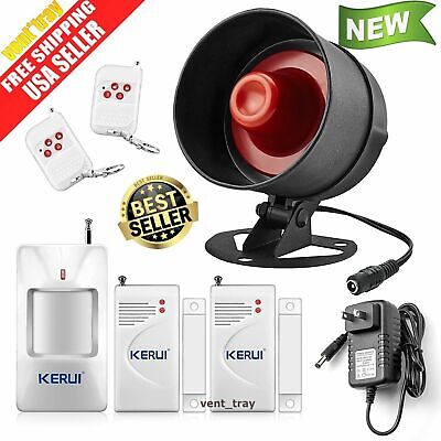 - Alarm System Siren Security Remote Wireless Motion Sensor Door Home Apartment