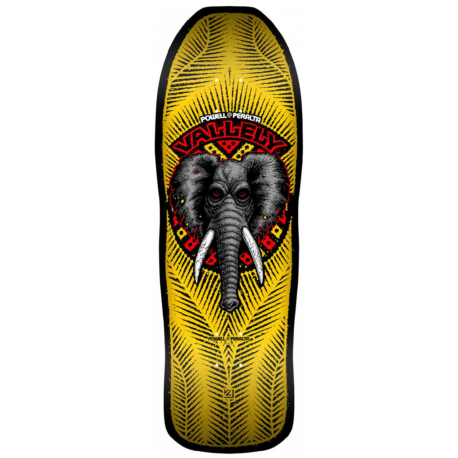Powell Peralta Mike Vallely Elephant Skateboard Deck Yellow | eBay