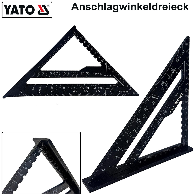 Winkeldreieck zusammenklappbar 600 mm aus Aluminium mit Aufbewahrungstasche