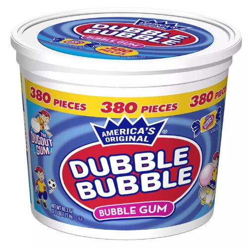 """DOUBLE BUBBLE """"BUBBLE GUM TUB 380 PCS"""""""