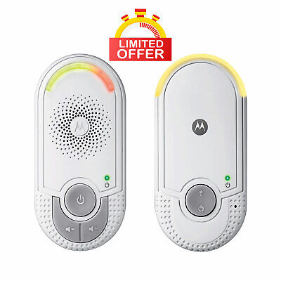 Motorola MBP8 Audio Baby Monitor with Wall Plug Baby and Parent Unit, UK Seller