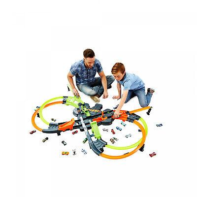 Hot Wheels Colossal Crash Track Set Double Figure Eight Design Easy Fold Up