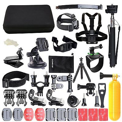 50Pcs Action Camera Accessory Kit For GoPro Hero Video set with Sony Sports UK