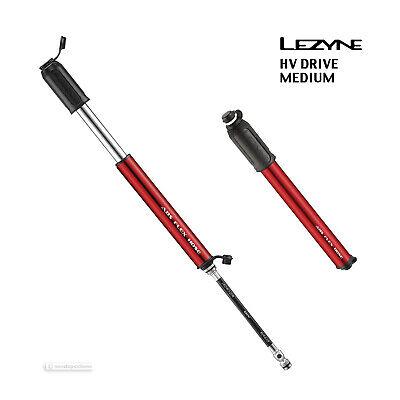 NEW Lezyne HV DRIVE High Volume Bicycle Hand Pump : RED MEDIUM High Volume Hand Pump