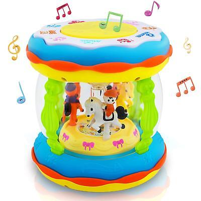 Toddler Musical Toy Drum Baby Learning Toy Best Xmas Gift for Baby Boys &