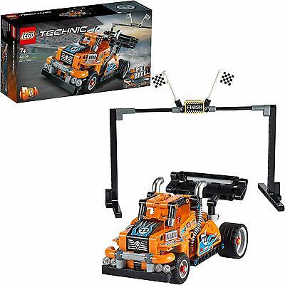 LEGO 42104 Technic 2-IN-1 Model Pull Back Motor Race Truck Building Toy Playset