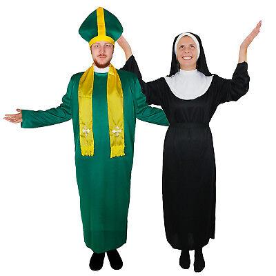 D NONNEN PAAR DAMEN NONNENKOSTÜM PFARRER VERKLEIDUNG  FASCHI (Priester Und Nonne Kostüm)