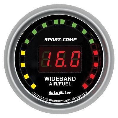 Autometer 3379 Sport-Comp Digital Air/Fuel ratio Gauge 2-1/16 in., Electrical