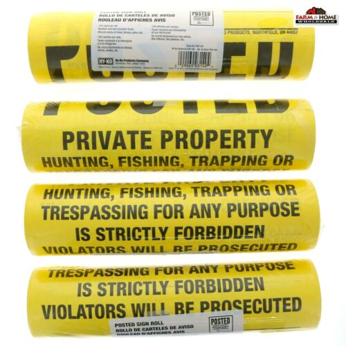 400ct Posted No Hunting or Trespassing Signs TSR-100 ~ NEW