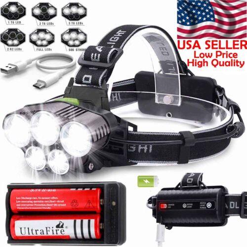 80000LM Tactical LED Flashlight 5-Modes Lamp 5x T6 Super Bright Light Lamp USA