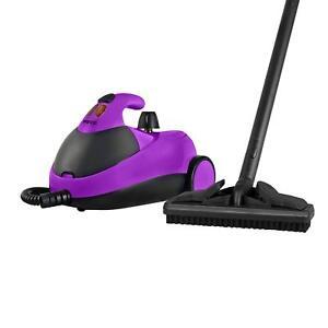Pifco P29007PU 1500W Compact Multi-Purpose Steam Cleaner in Purple/Black - NEW
