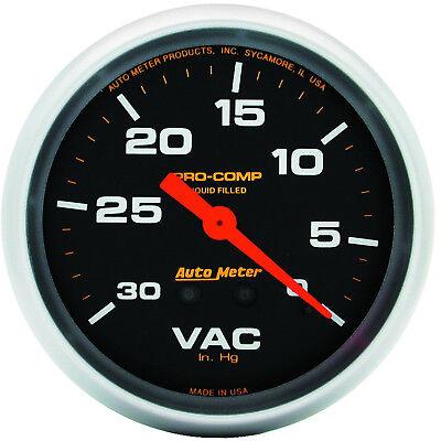 "AutoMeter 5484 Pro-Comp 2-5/8"" Liquid Filled Vacuum Gauge 0-30 PSI Mechanical"