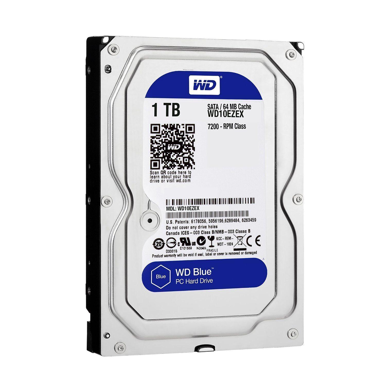 """WD Blue WD10EZEX 1TB 7200 RPM 64MB Cache SATA 6.0GB//S 3.5/"""" Internal OEM HDD"""