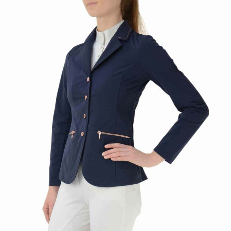 Hy Rosalind Rose Gold Womens Jacket Competition Jackets - Navy All Sizes