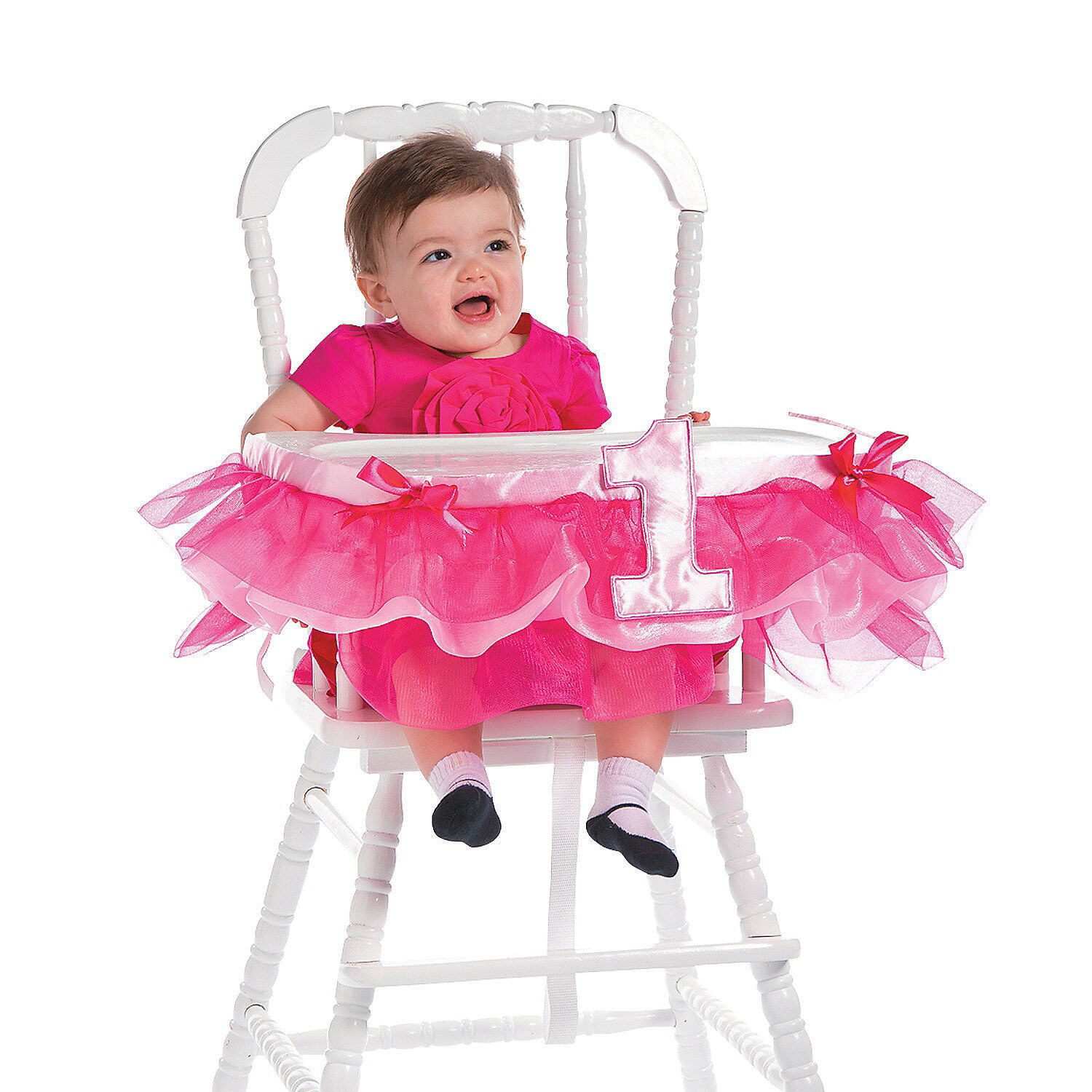 Little PRINCESS 1st Birthday Party Decoration Pink High Chai