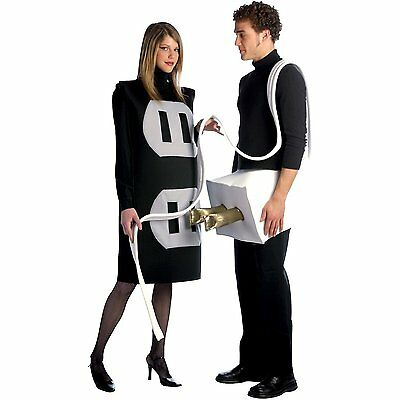 Rasta Imposta Plug and Socket Adult Couples Costume  - Socket Costume Couple
