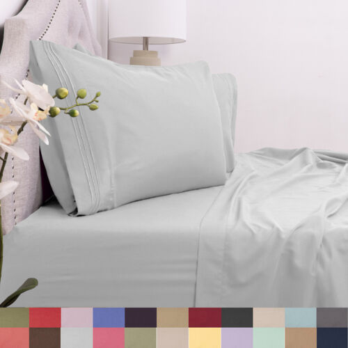 1800 Count Deep Pocket Microfiber 4 Piece Cal King Sheet Set Asst Colors Bedding