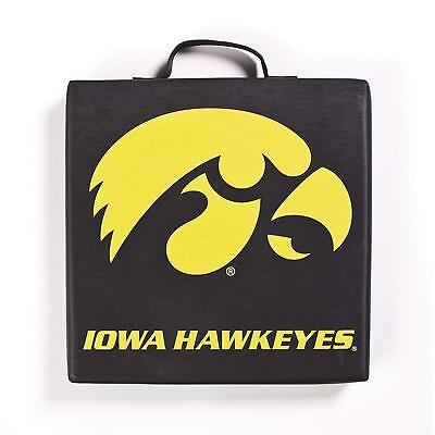 Iowa Hawkeyes NCAA Bleacher Seat Cushion 14 x 14 x 2 Sold Man Cave  All Black - Ncaa Bleacher Cushion