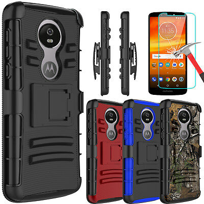 Kickstand Case - For Motorola Moto E5 Plus/Supra Armor Case With Kickstand Clip+Screen Protector