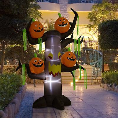 8ft Halloween Airblown Inflatable Haunted Pumpkins Tree Yard Outdoor Decorations