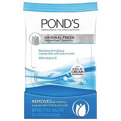 Pond's Makeup Remover Wipes, Original Fresh, 28 Count