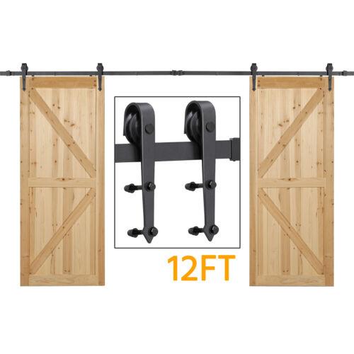 CO-Z 6FT 183cm Sliding Barn Door Kit Wood Door Hardware Closet Set Carbon Steel Barn Door Hardware Kit 100KG Barn Door Sliding Track Up to 90cm Wide Sliding Door Panel 6 FT 183cm