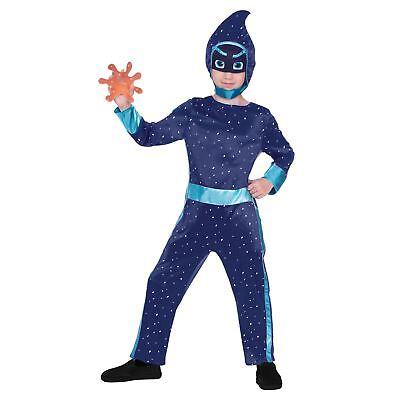 Pyjama Masken Nacht Ninja Kostüm Jungen Marineblau Outfit Platsch Zubehör Tv