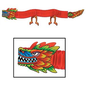 6ft STRETCHABLE DRAGON CHINESE NEW YEAR HANGING DECOR ORIENTAL THEMED PARTY