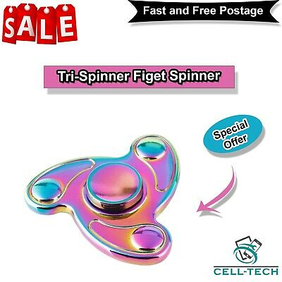 Tri-Spinner Figet Spinners Hand Desk Rainbow ADHD UFO Steel Focus Hand spin Toy